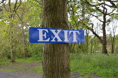 Exit sign. Stock Image