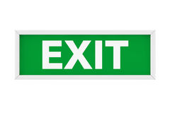 Exit Sign Light Box. 3d Rendering Stock Photo