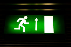 exit sign in the metro Stock Images