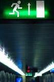 Exit sign in metro Royalty Free Stock Image