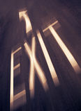 Exit Sign On Road Royalty Free Stock Image