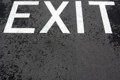 Exit. Sign painted on the asphalt road vector illustration