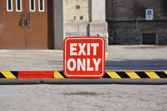 Exit only sign Royalty Free Stock Images