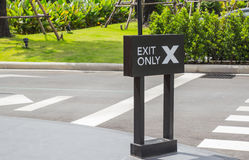 Exit Only Sign Royalty Free Stock Photo
