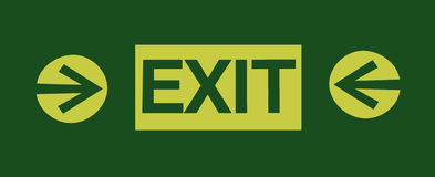 Exit sign with two arrows Stock Image