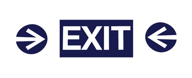 Exit sign with two arrows royalty free stock photography