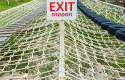 Exit sign way Stock Images