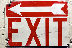 Exit Signage Royalty Free Stock Photography