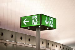 Exit signal Royalty Free Stock Photo