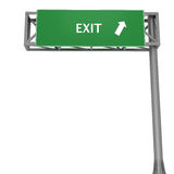 Exit signboard Stock Photography