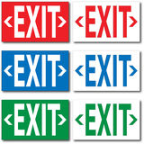 Exit Signs Stock Photo