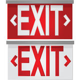 Exit signs. Glossy illustration showing a white exit sign over red, and a red exit sign over white Royalty Free Stock Photo