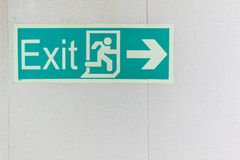 Exit signs. Stock Image