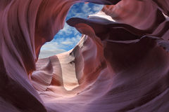 Exit slot canyon Stock Photography