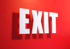 Exit somewhere near Stock Images