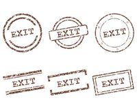 Exit stamps Royalty Free Stock Image