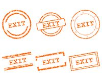Exit stamps Stock Images