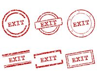 Exit stamps Stock Photos