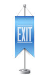 Exit standing banner sign illustration design Royalty Free Stock Images