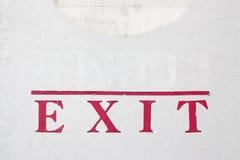 Exit sticker Royalty Free Stock Photo