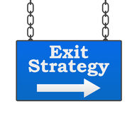 Exit Strategy Signboard Stock Photos