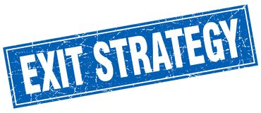 exit strategy stamp vector illustration