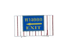 Exit tags isolated on white Stock Photos