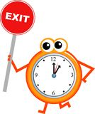 Exit time Royalty Free Stock Images