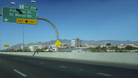 Exit to Downtown, Tucson, AZ Royalty Free Stock Images