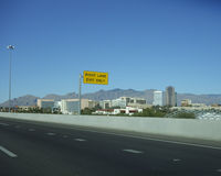 Exit to Downtown, Tucson, AZ Stock Images