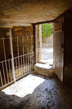 Exit from the tomb of Christ royalty free stock image