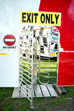 Exit only turnstile of a funfair Royalty Free Stock Photography