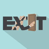 Exit Typography Design. Royalty Free Stock Photo