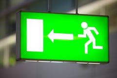 Exit undertecknar Fotografering för Bildbyråer