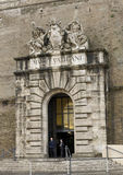 Exit from the Vatican Museums. Early Morning exit from the Vatican Museums of the Vatican City in Rome.  It is one of the largest museums in the world.  It Stock Image