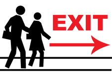 Exit way Royalty Free Stock Image
