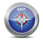 Exit the way indicated by compass Stock Photography