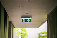 Exit way sign Royalty Free Stock Images