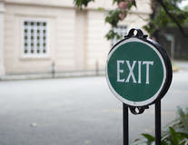 Exit This Way Stock Images