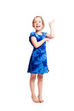 Exited little girl Royalty Free Stock Images