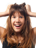 Exited teenage girl Stock Photography