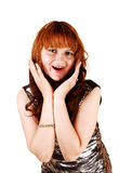 Exited young girl. Stock Photography
