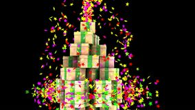 Christmas stars explosion for a special party. royalty free illustration