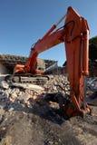 Exkavator-Demolierung Stockbild