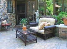 exklusiv attraktiv möblerad terrass Royaltyfria Foton