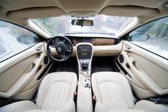 exklusiv interior för bil Arkivbilder