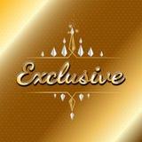 Exklusiv logodesign för storgubbe bakgrundsbegrepp som äter middag lyxig white för fin örtlangoustinecitron Royaltyfri Bild