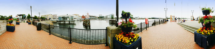 EXKLUSIV - Panorama von Cardiff-Docks lizenzfreies stockfoto