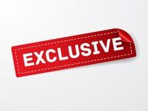 Exklusiv röd etikettsymbol fotografering för bildbyråer