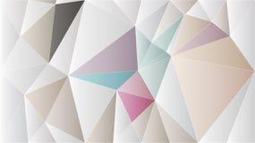 Exklusiv rosa guld- tapet för abstrakt polygon Royaltyfri Fotografi